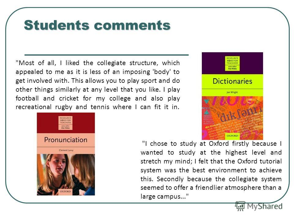 Students comments Students comments