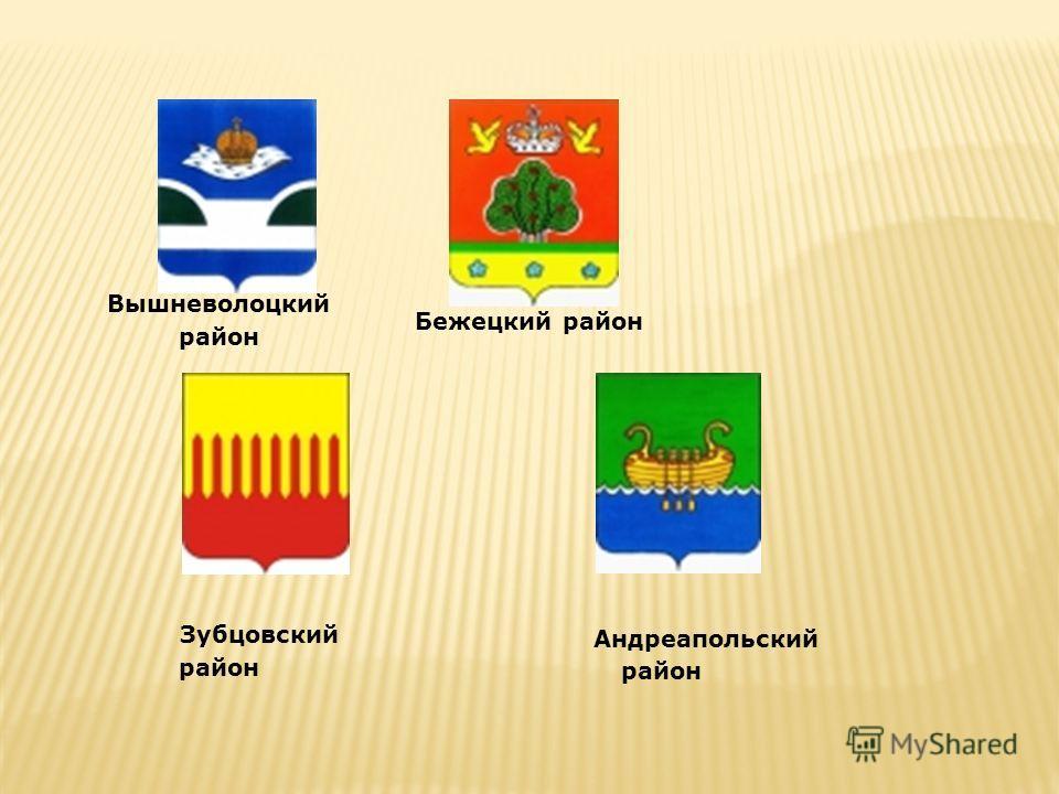 Вышневолоцкий район Бежецкий район Зубцовский район Андреапольский район