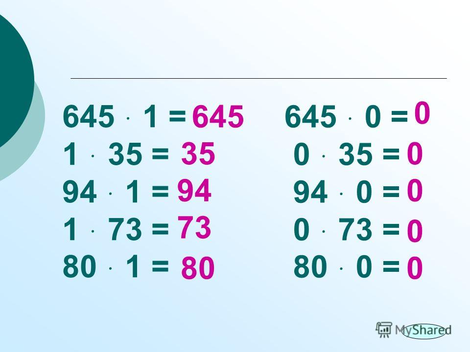645 ּ 1 = 1 ּ 35 = 94 ּ 1 = 1 ּ 73 = 80 ּ 1 = 645 ּ 0 = 0 ּ 35 = 94 ּ 0 = 0 ּ 73 = 80 ּ 0 = 645 35 94 73 80 0 0 0 0 0