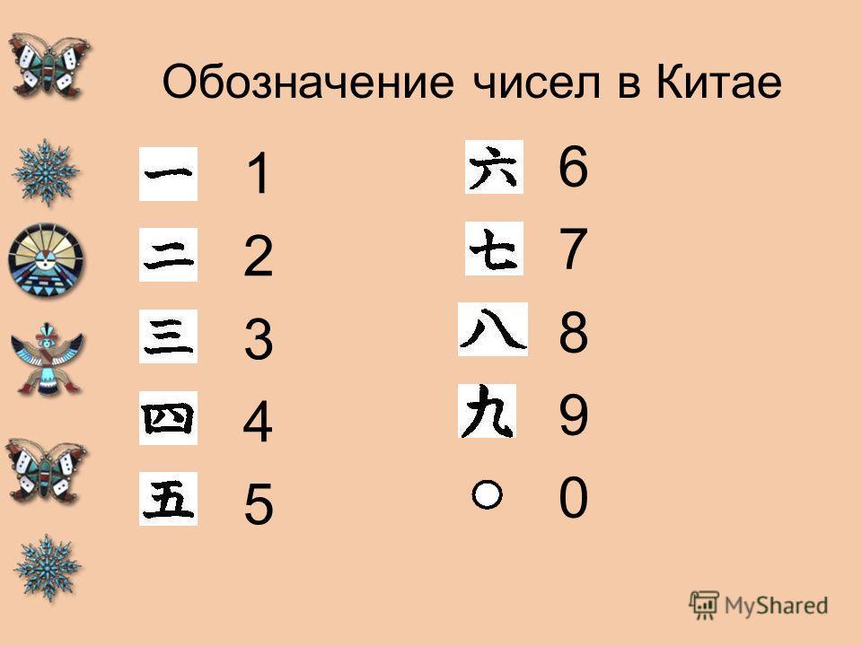 Обозначение чисел в Китае 1234512345 6789067890