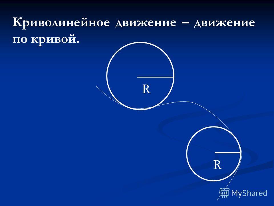Криволинейное движение – движение по кривой. R R