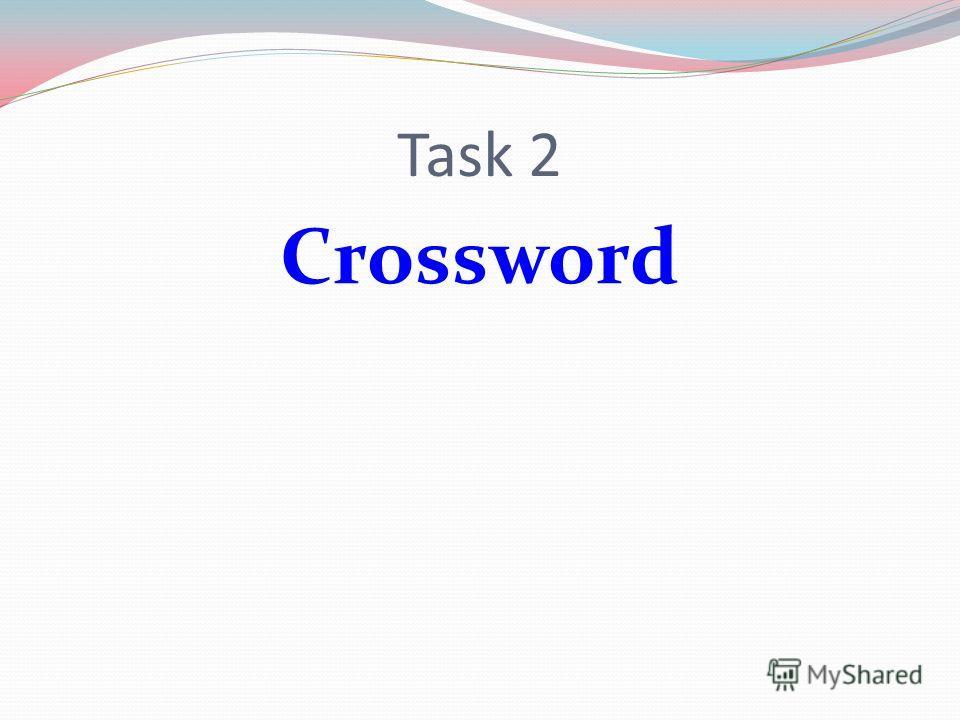 Task 2 Crossword