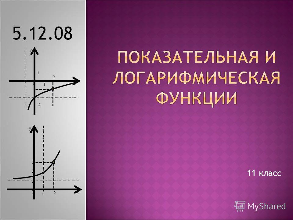 11 класс 5.12.08 х у 0 1 1 -1 -2-2 2 х у 2 2 3 01 1