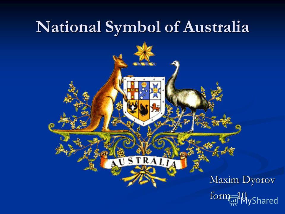 National Symbol of Australia Maxim Dyorov form 10