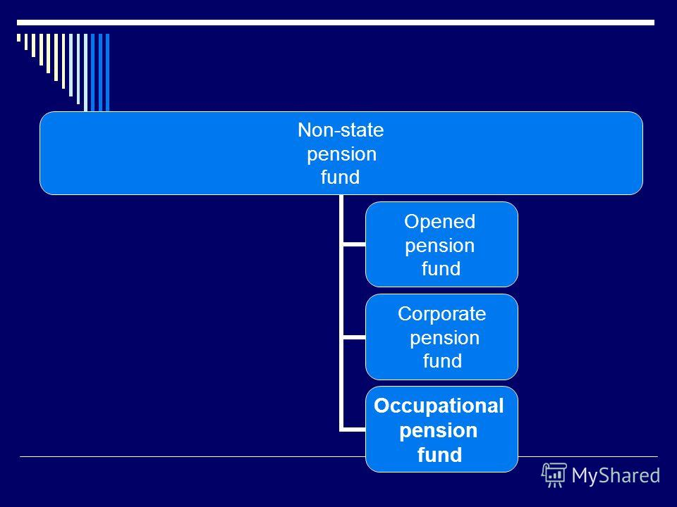 Non-state pension fund Opened pension fund Corporate pension fund Occupational pension fund