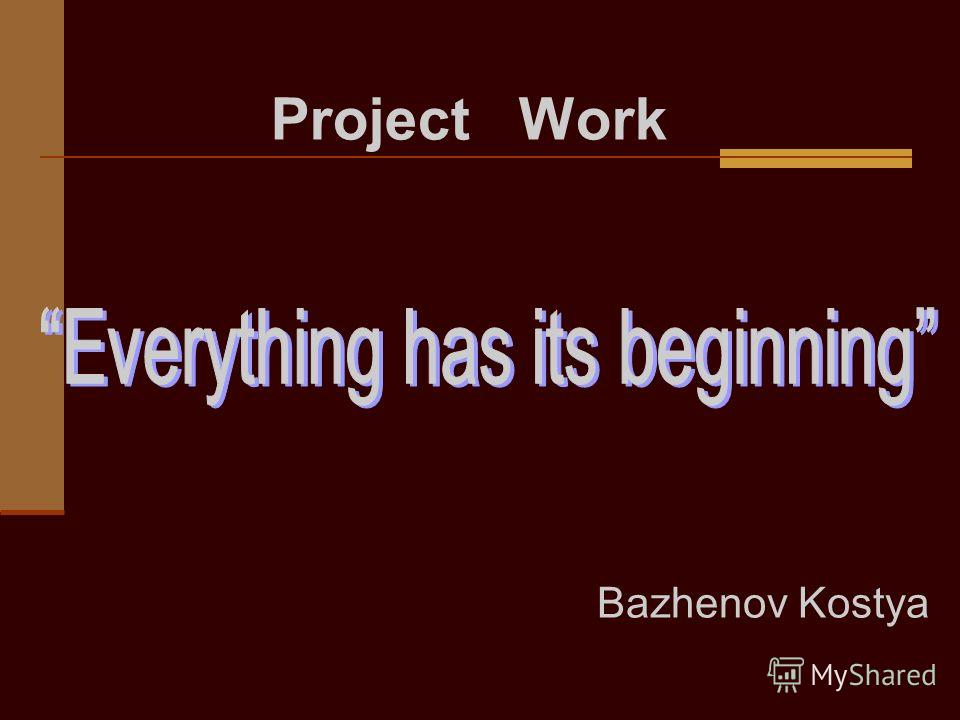 Bazhenov Kostya Project Work