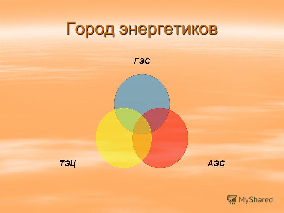 Город энергетиков ГЭС АЭСТЭЦ