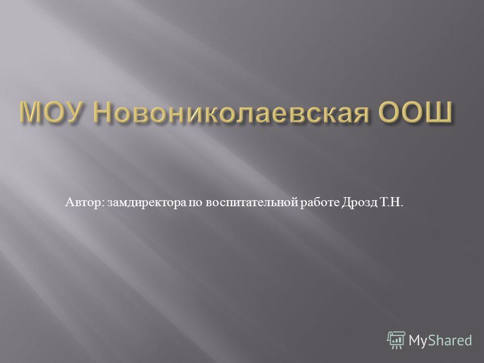 Автор : замдиректора по воспитательной работе Дрозд Т. Н.