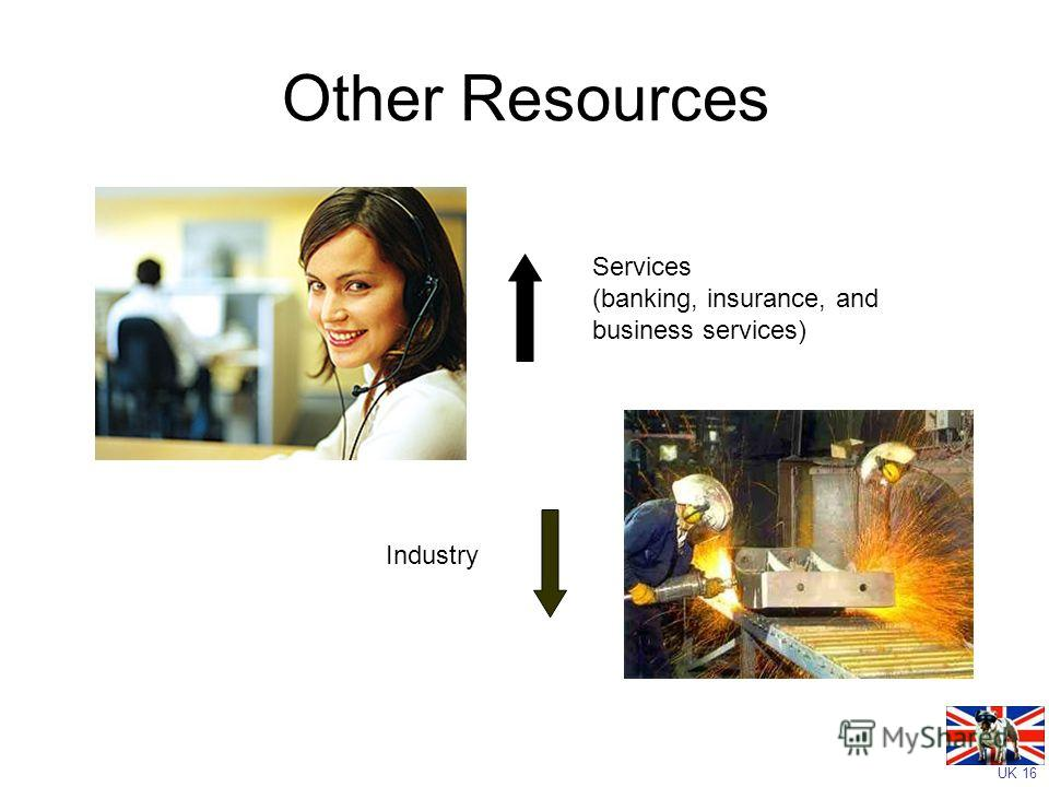 UK 16 Other Resources Industry Services (banking, insurance, and business services)
