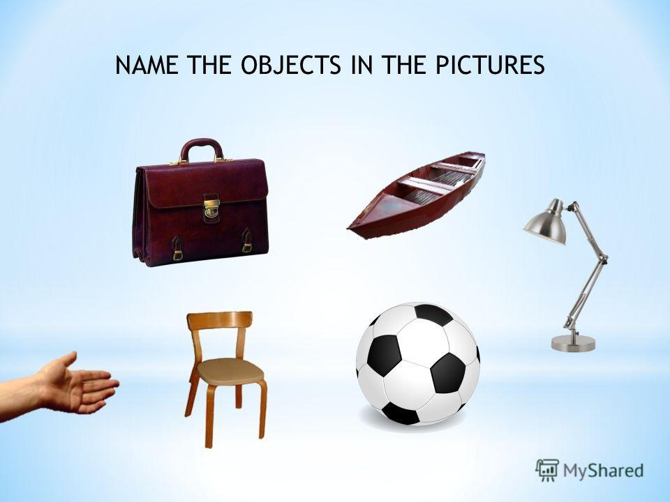 NAME THE OBJECTS IN THE PICTURES