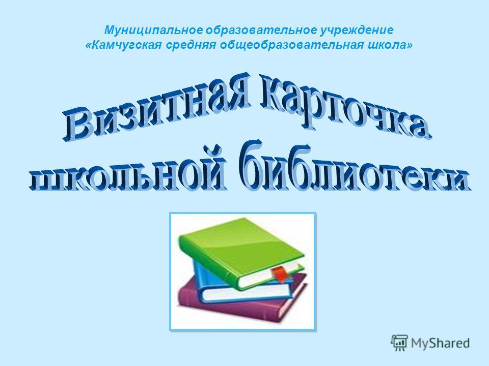 Муниципальное образовательное учреждение «Камчугская средняя общеобразовательная школа»