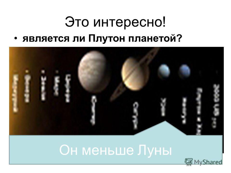 Это интересно! является ли Плутон планетой? Он меньше Луны