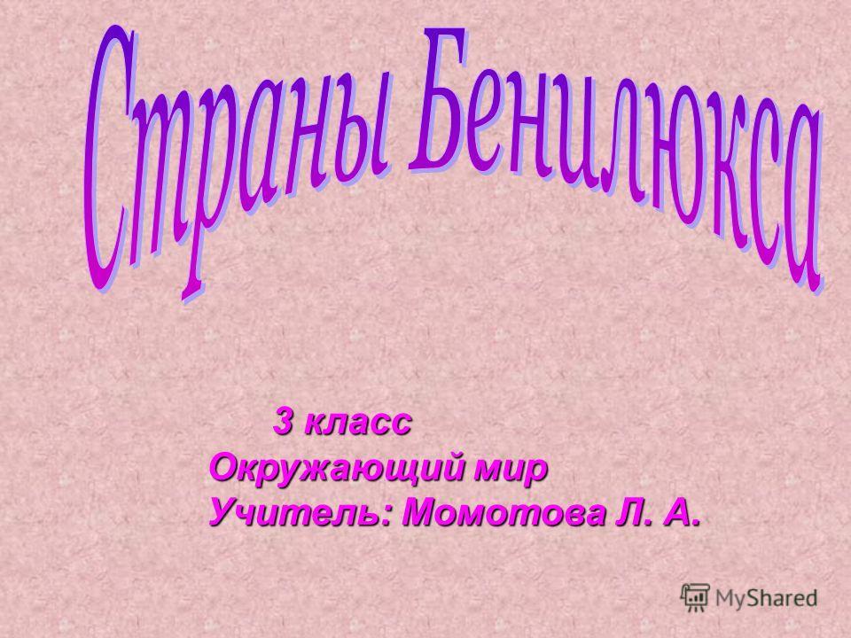 3 класс Окружающий мир Учитель: Момотова Л. А.