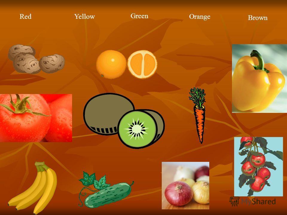 RedYellow Green Orange Brown