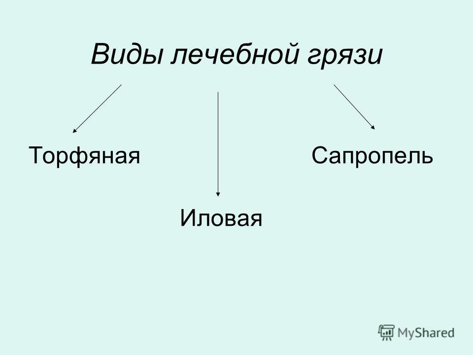 Виды лечебной грязи Торфяная Сапропель Иловая