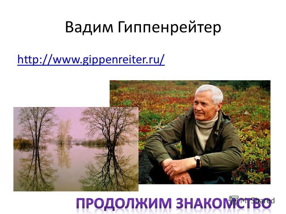 Вадим Гиппенрейтер http://www.gippenreiter.ru/