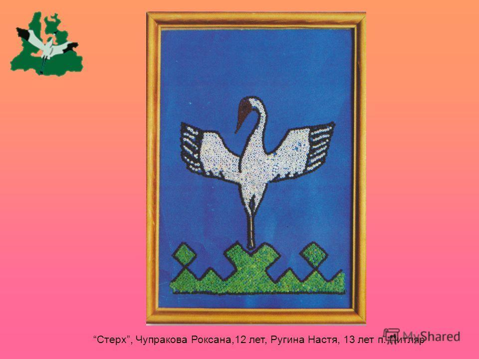 Стерх, Чупракова Роксана,12 лет, Ругина Настя, 13 лет п. Питляр