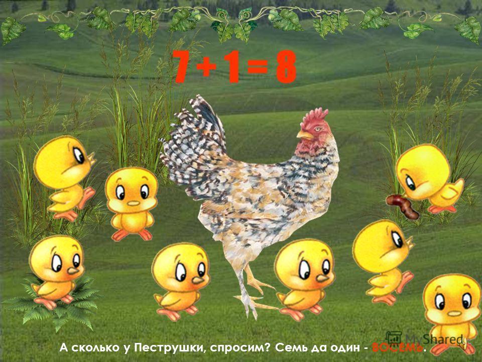Какая, однако, Хохлатка зевака! Закружилась у неё голова. Осталось цыплят только два: один да один – дочка да сын.
