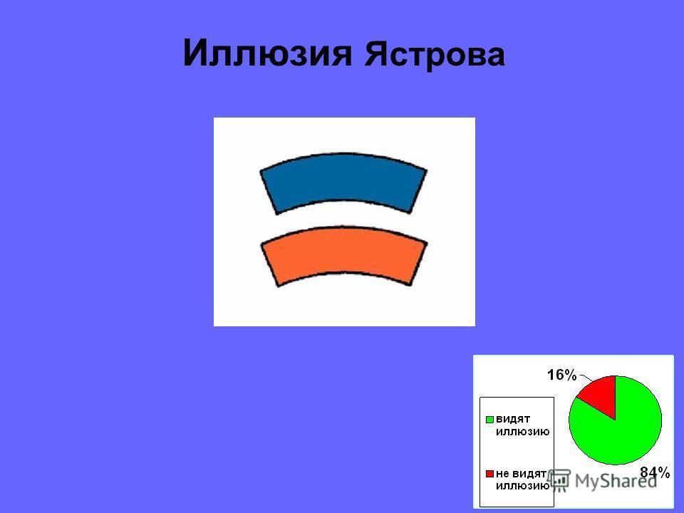 Карандаши равны по длине Иллюзия Вундта-Фика