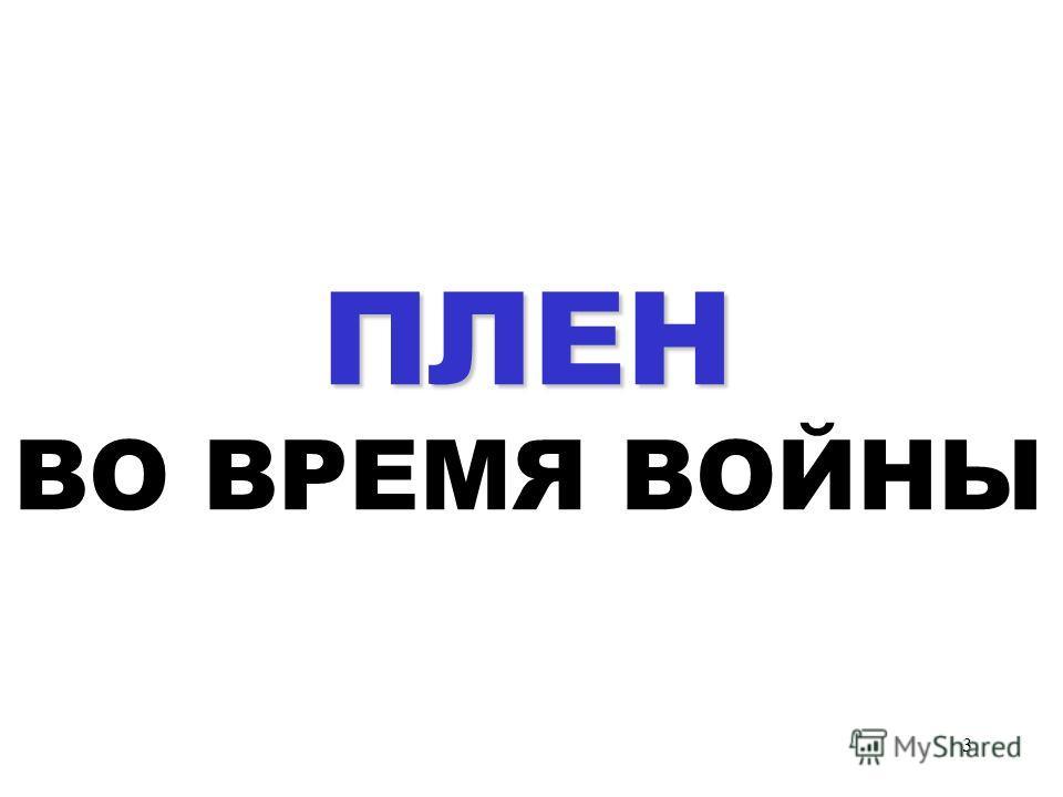 3 П ПП ПЛЕН ВО ВРЕМЯ ВОЙНЫ