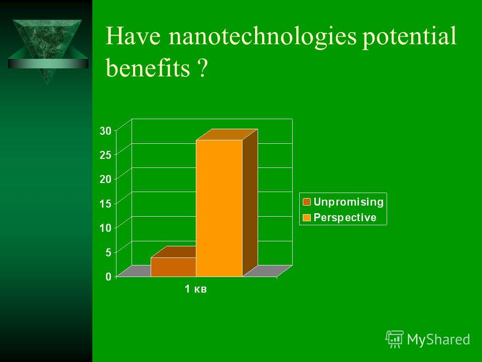Have nanotechnologies potential benefits ?