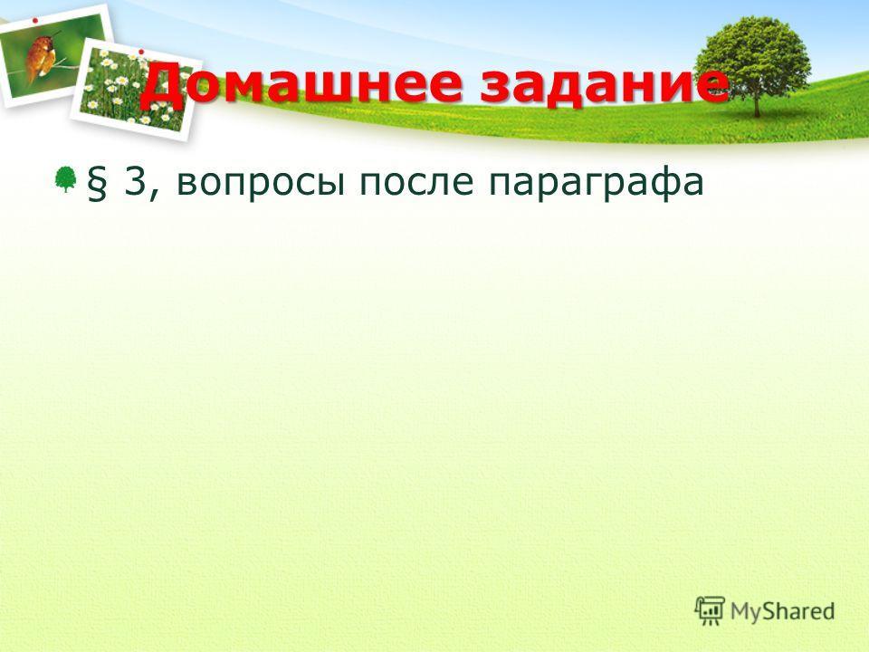 Домашнее задание § 3, вопросы после параграфа