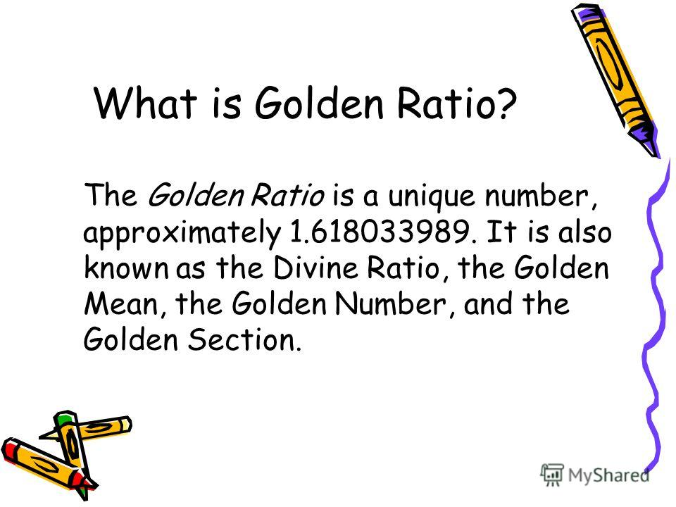 golden ratio what is golden ratio