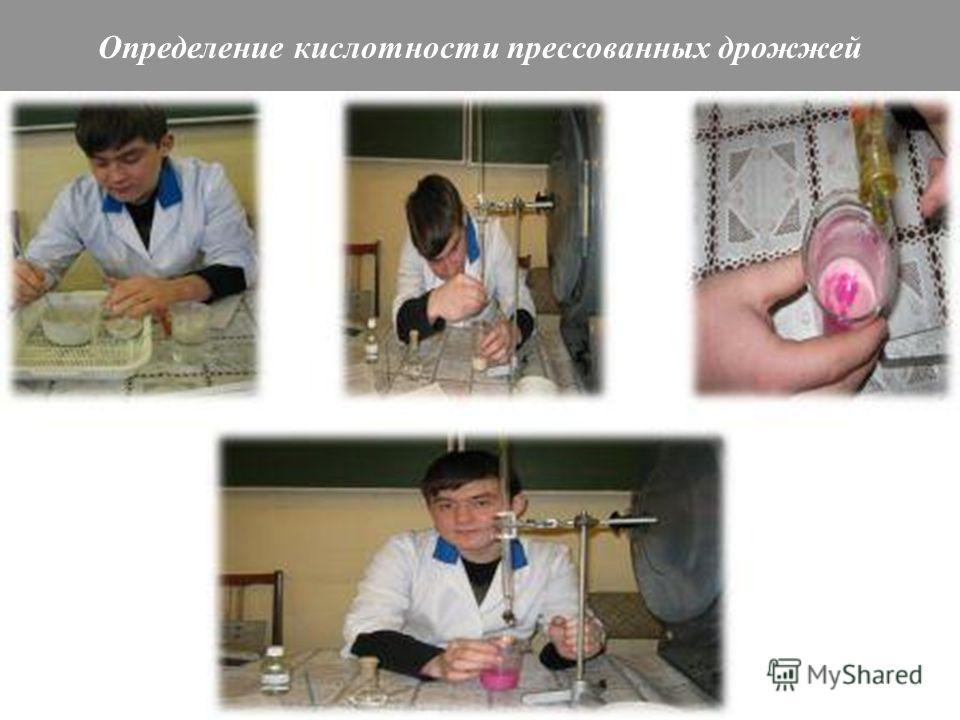 Определение кислотности прессованных дрожжей