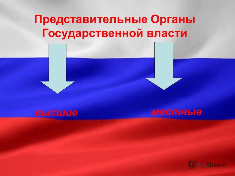 Представительные Органы Государственной власти высшие местные