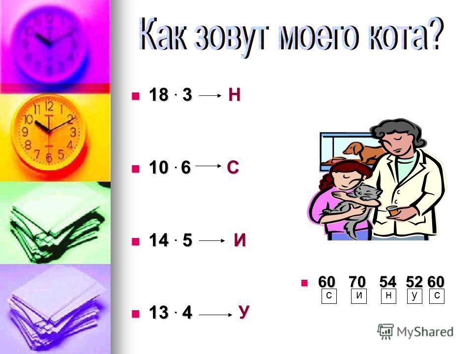 18. 3 Н 18. 3 Н 10. 6 С 10. 6 С 14. 5 И 14. 5 И 13. 4 У 13. 4 У 60 70 54 52 60 60 70 54 52 60 синус