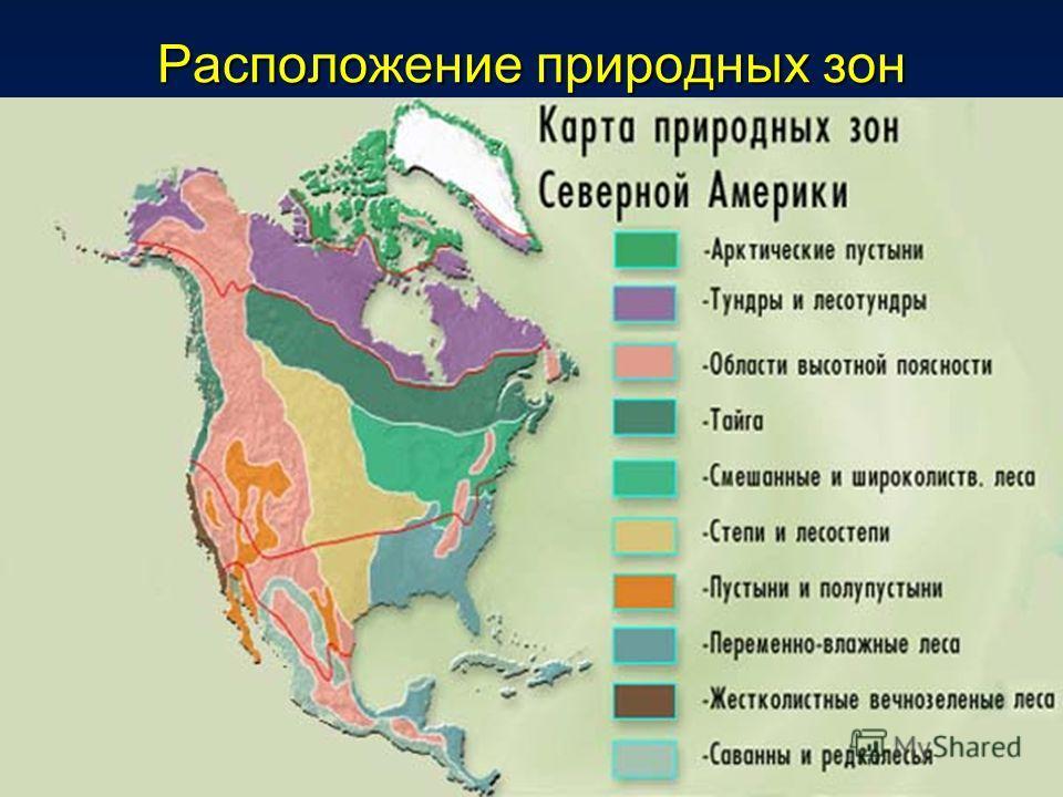 Расположение природных зон