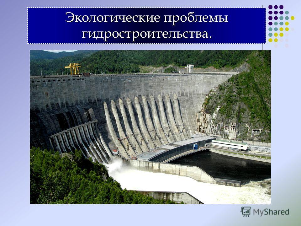 Экологические проблемы гидростроительства.