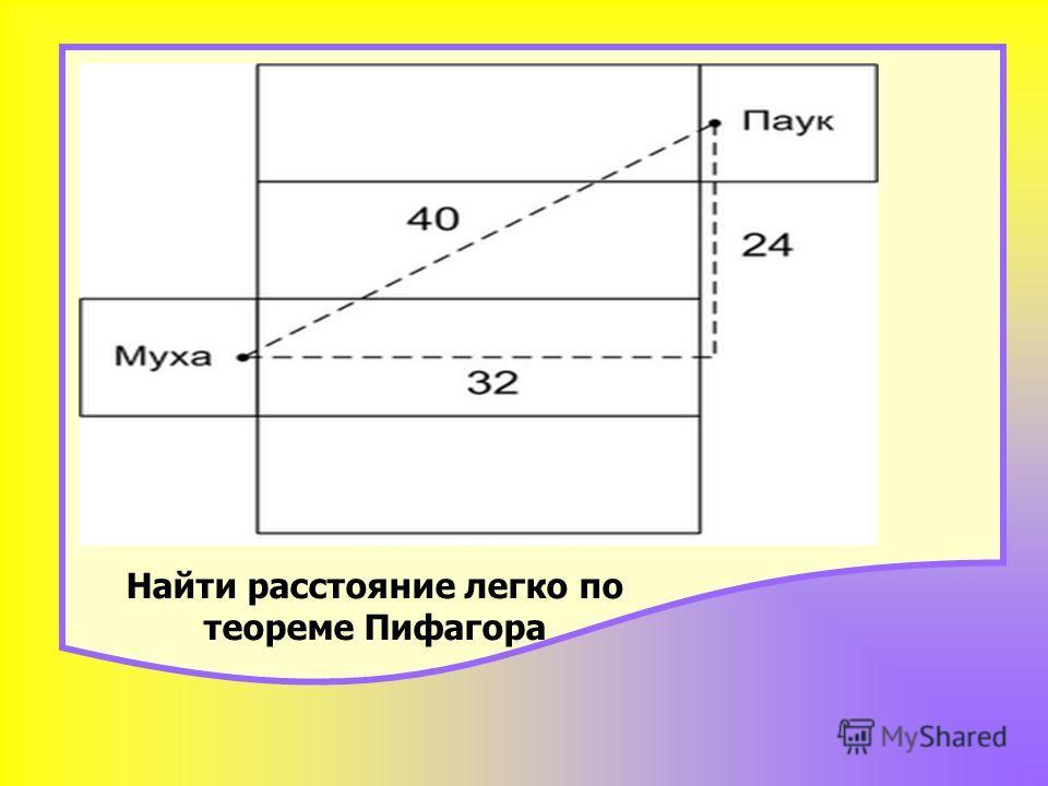 Найти расстояние легко по теореме Пифагора