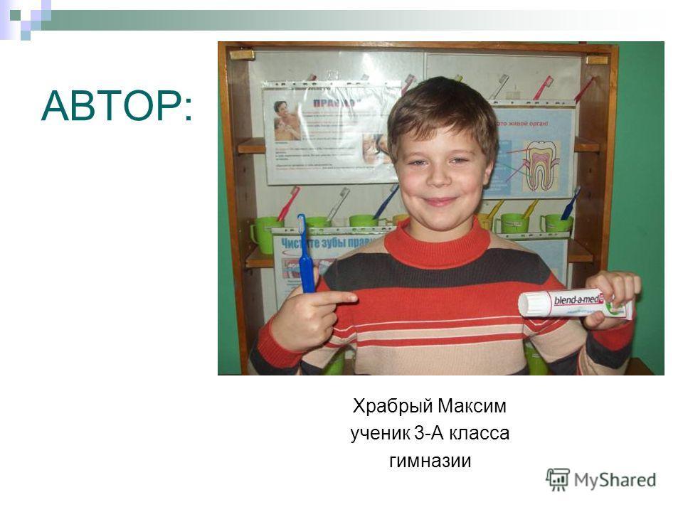 АВТОР: Храбрый Максим ученик 3-А класса гимназии
