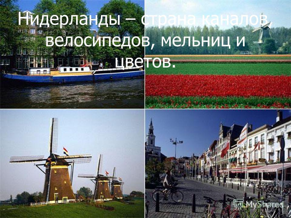 Писаревская Т.П. Баган Нидерланды – страна каналов, велосипедов, мельниц и цветов.