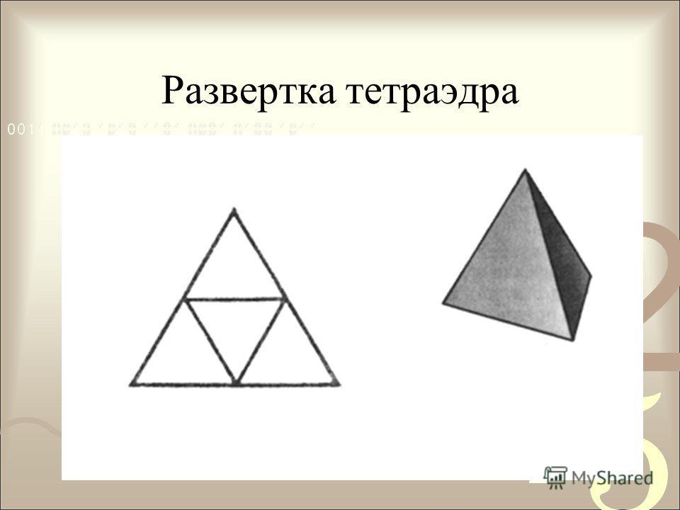 Правильные многогранники Сколько же их существует? Тетраэдр -правильная треугольная пирамида с равными ребрами, ограниченная четырьмя правильными треугольниками.