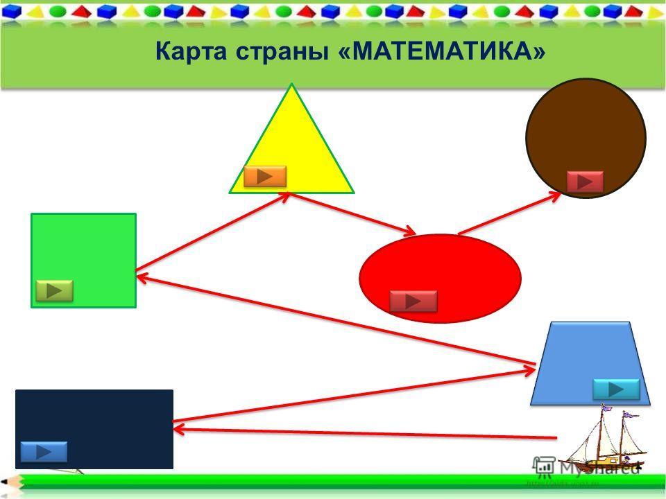 Карта страны «МАТЕМАТИКА»