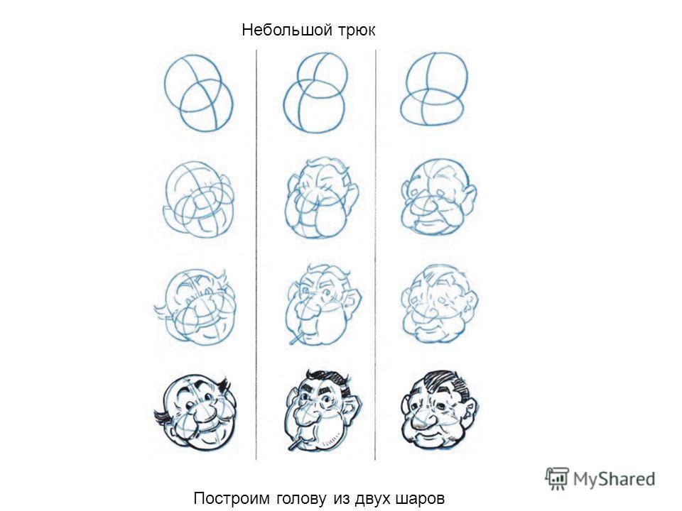 Небольшой трюк Построим голову из двух шаров