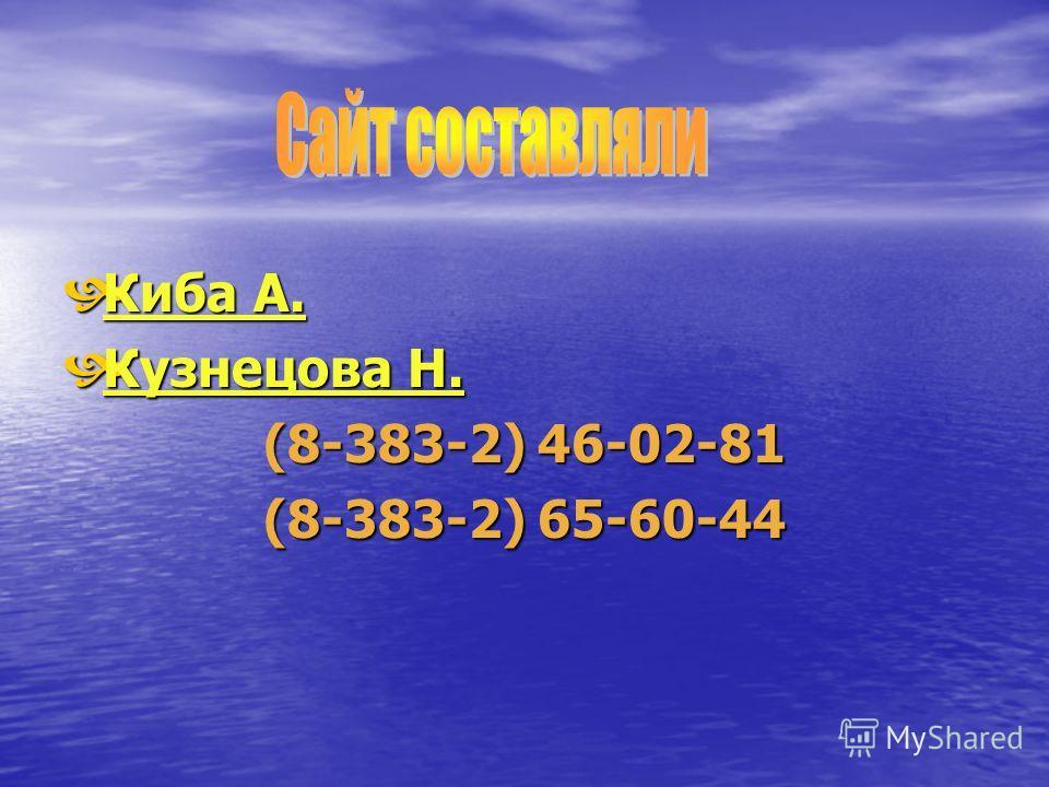Киба А. Киба А. Кузнецова Н. Кузнецова Н. (8-383-2) 46-02-81 (8-383-2) 65-60-44