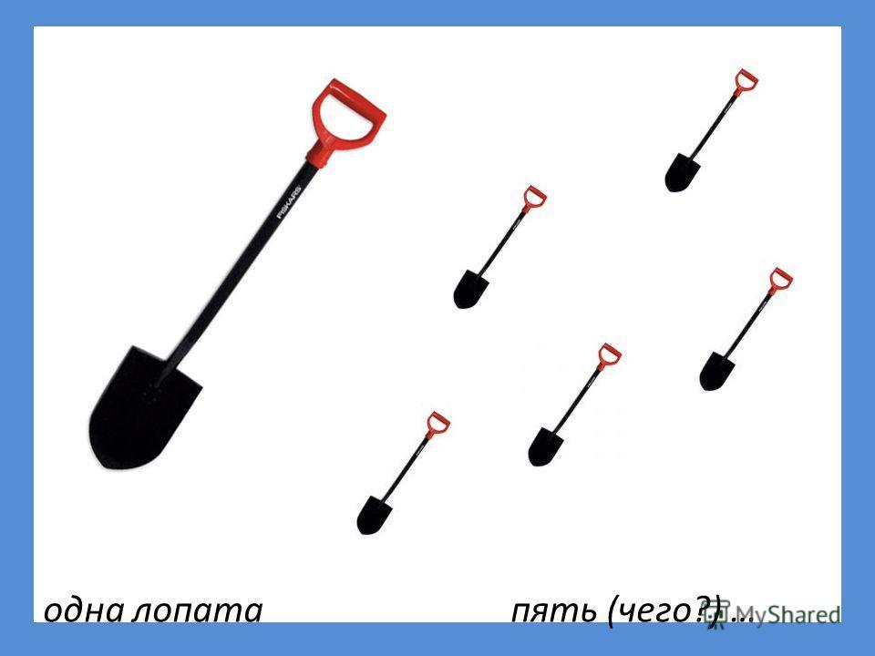 одна лопата пять (чего?) …