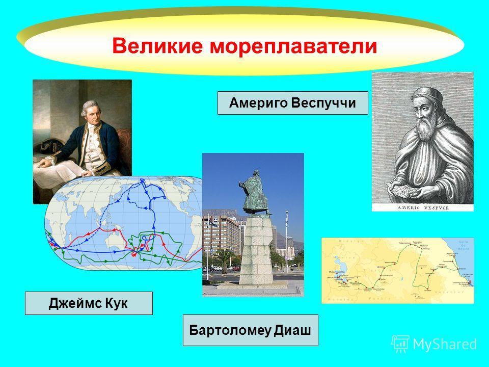 Великие мореплаватели Джеймс Кук Америго Веспуччи Бартоломеу Диаш