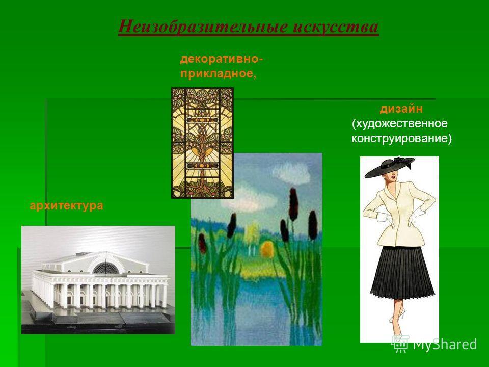 Неизобразительные искусства дизайн (художественное конструирование). архитектура декоративно- прикладное,