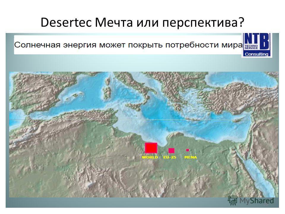 Desertec Мечта или перспектива? 25