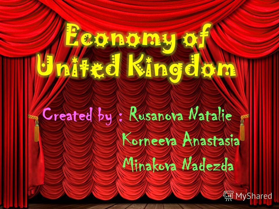 Created by : Rusanova Natalie Korneeva Anastasia Minakova Nadezda