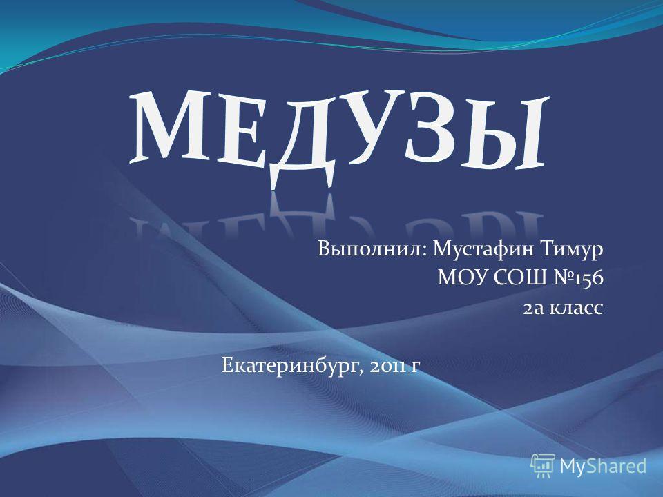 Выполнил: Мустафин Тимур МОУ СОШ 156 2а класс Екатеринбург, 2011 г