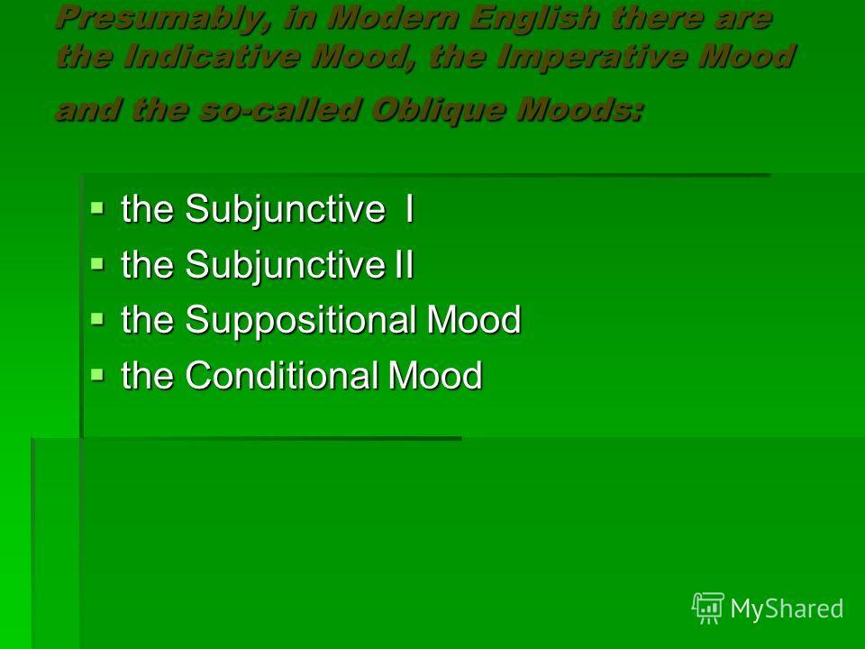 The Category Of Mood The Category Of Mood Is