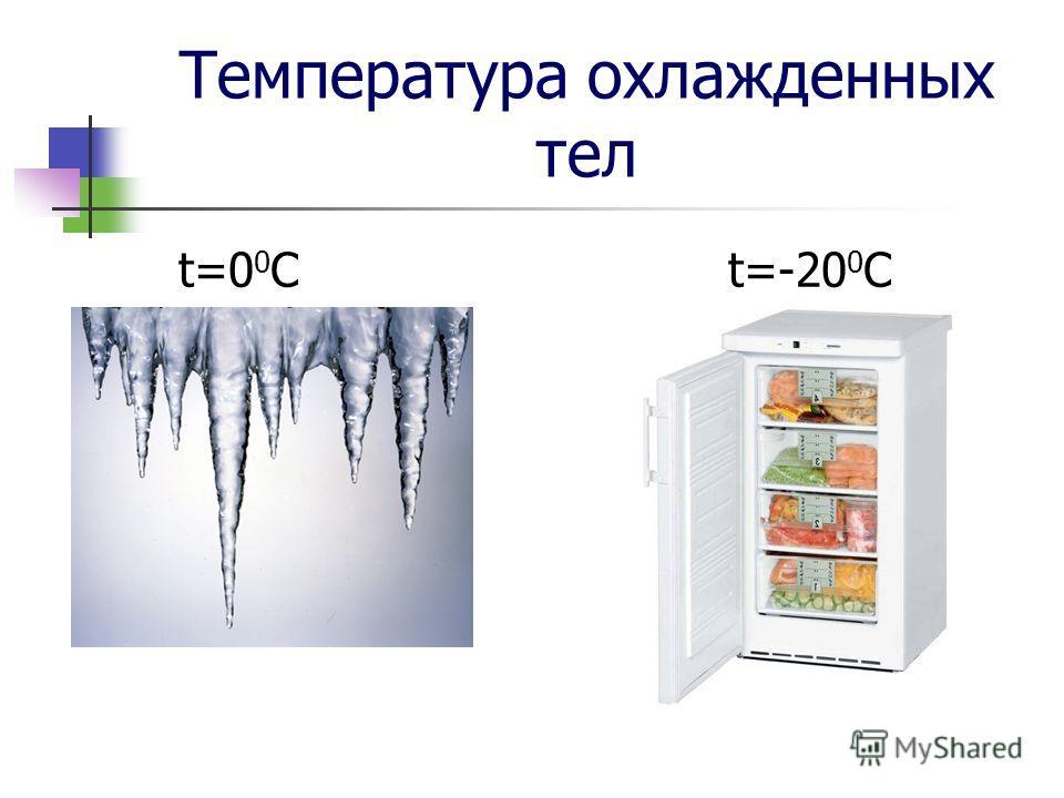 Температура охлажденных тел t=0 0 C t=-20 0 C