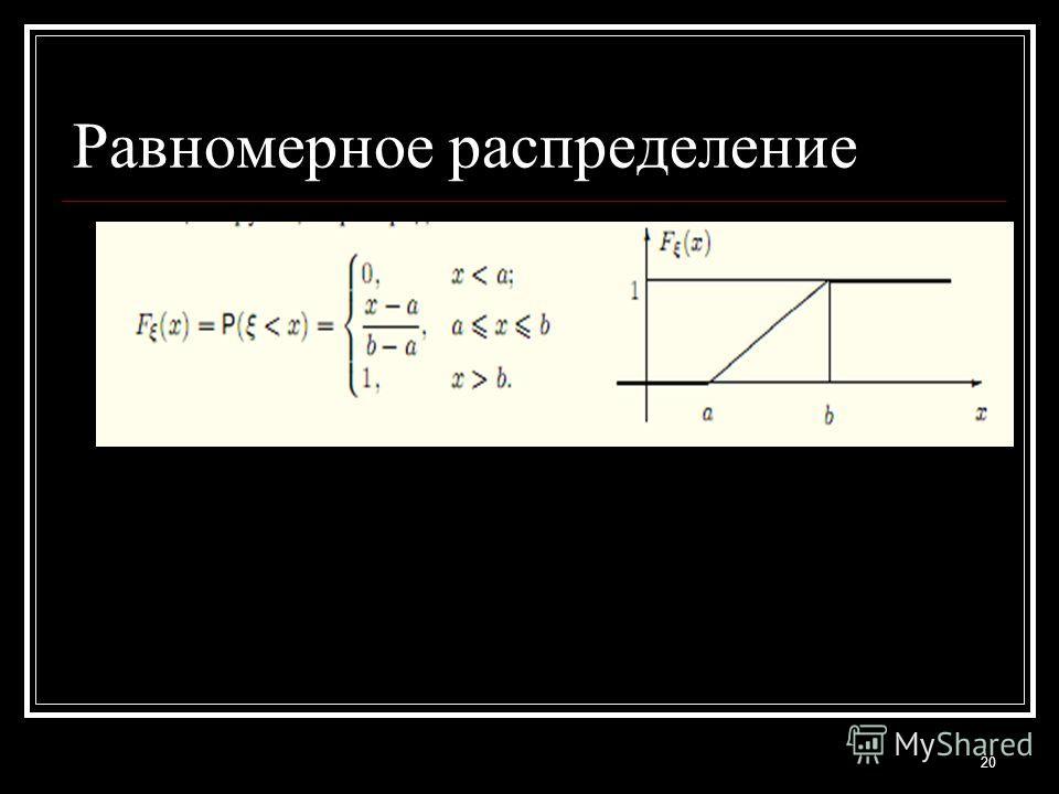 20 Равномерное распределение