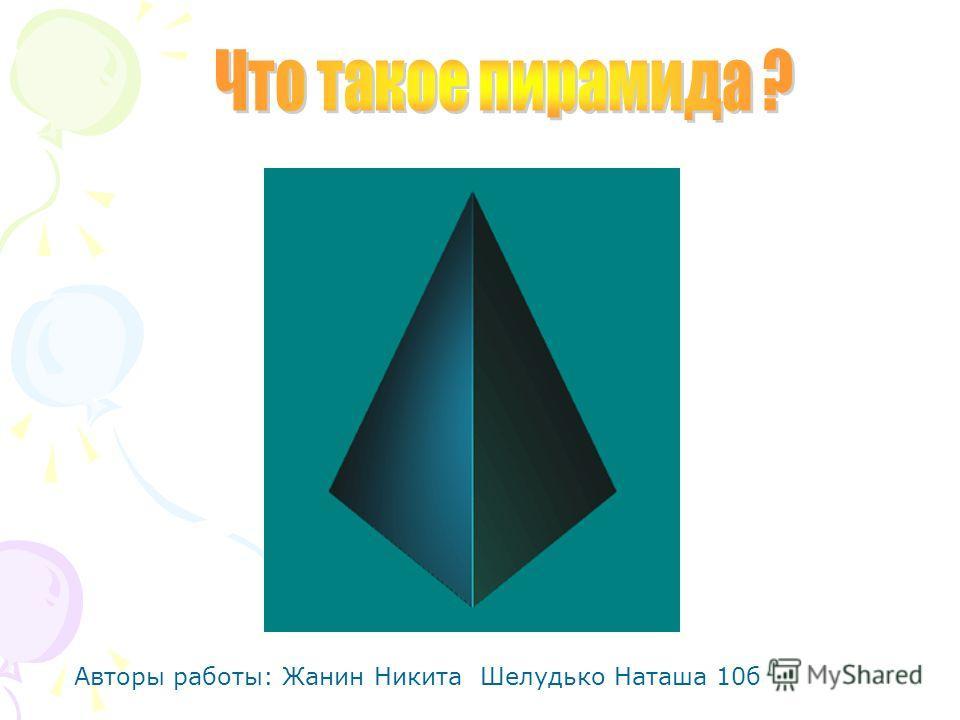 Авторы работы: Жанин Никита Шелудько Наташа 10б
