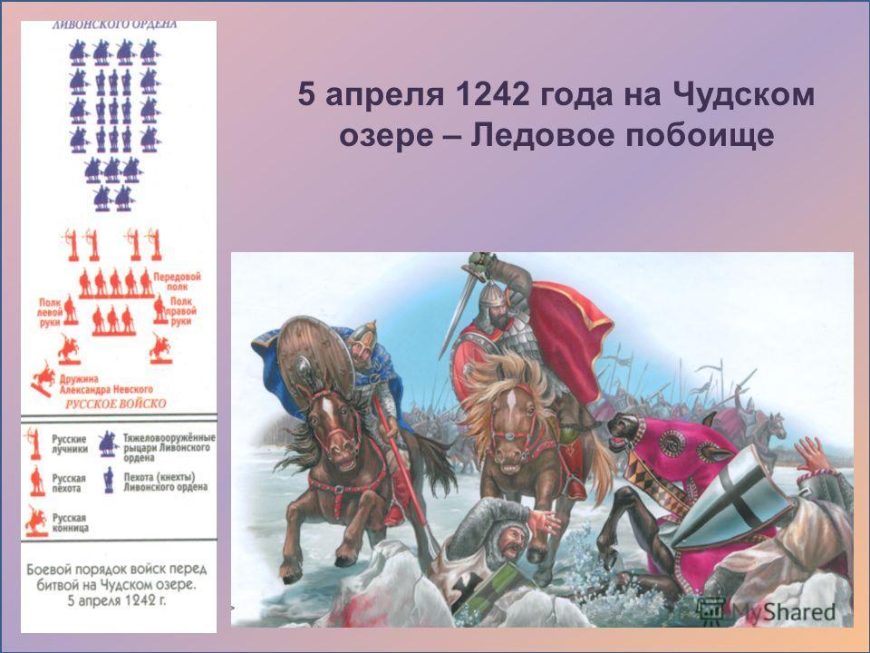 5 апреля 1242 года на Чудском озере – Ледовое побоище